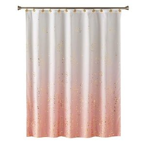 Pink & Gold Shower Curtain